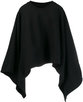 MM6 MAISON MARGIELA asymmetric hem cropped sweatshirt