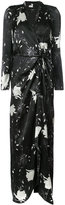 Paule Ka long floral wrap dress