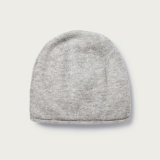 The White Company Cashmere Essential Beanie Hat, Pale Grey Marl, One Size