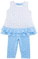 Florence Eiseman Polka-Dot Ruffle Top w/ Leggings, Size 2-6X