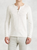 John Varvatos Long Sleeve Pintuck Henley