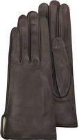Forzieri Women's Brown Calf Leather Gloves w/ Silk Lining