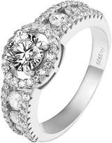 Master of Bling Wedding Engagement Ring 14k White Gold Finish 925 CZ Bridal Womens Classy