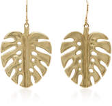 Annette Ferdinandsen 14K Gold Leaf Earrings