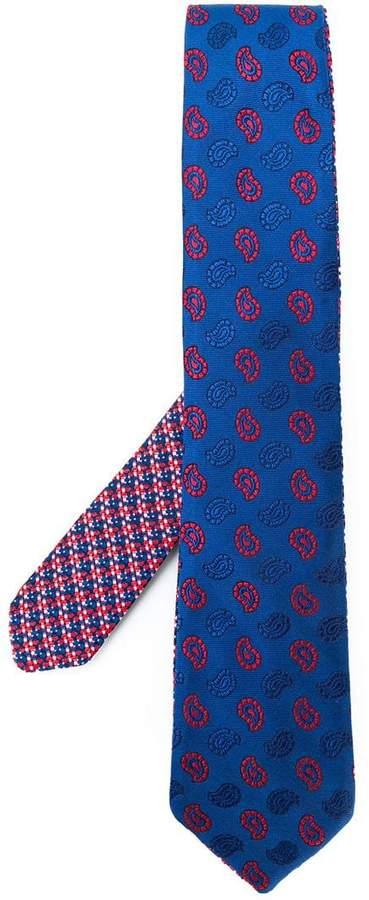Etro paisley embroidered tie