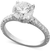 X3 Certified Diamond Engagement Ring in 18k White Gold (1-1/2 ct. t.w.)