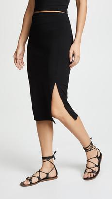 Susana Monaco High Waist Slit Skirt