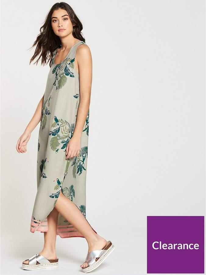 NATIVE YOUTH Printed Midi Dress - Stone