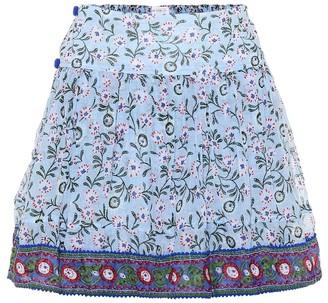 Poupette St Barth Amora printed cotton miniskirt