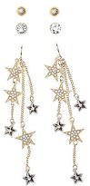 Charlotte Russe Embellished Star Drop & Stud Earrings - 3 Pack