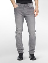 Calvin Klein Tapered Leg Faded Jeans