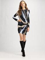 Long-Sleeved Silk Dress