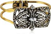 Yochi Sparkle Art Deco Open Cuff Bracelet