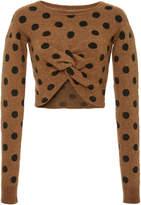 Rachel Comey Polka Dot Embrace Deconstructed Sweater