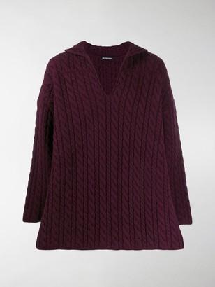 Balenciaga V-neck cable knit jumper