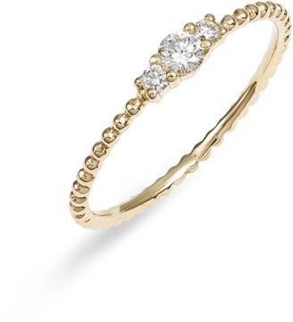 Bony Levy Diamond & Gold Bead Ring