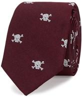 Peckham Rye Skull And Crossbones Silk Twill Tie