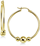 Giani Bernini Beaded Hoop Earrings in 18k Gold-Plated Sterling Silver, Only at Macy's