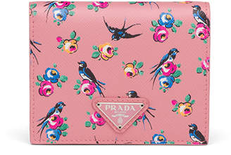 Prada Bird & Flower French Wallet