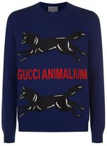 Gucci Wolf Motif Sweater