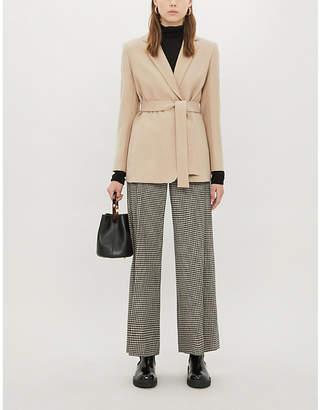 Sandro Bravy regular-fit notch-lapels wool-blend jacket