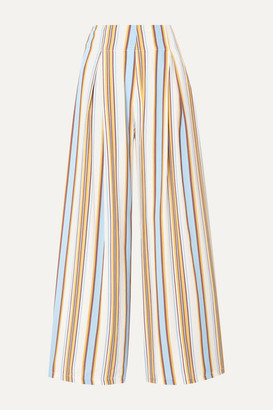 Faithfull The Brand Opal Striped Voile Wide-leg Pants - White