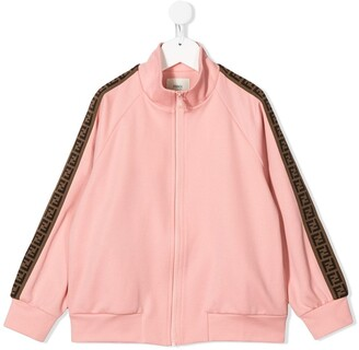 Fendi Kids FF tape track jacket