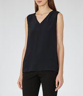 Reiss Fierce Silk-Front Tank Top