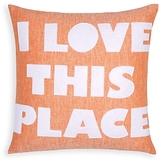 Alexandra Ferguson I Love This Place Linen Decorative Pillow, 16 x 16