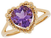 Lord & Taylor Amethyst and 14K Yellow Gold Ring