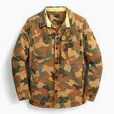 Barbour camo shirt jacket