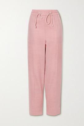 Roksanda Palmira Wool-blend Twill Tapered Pants - Pastel pink