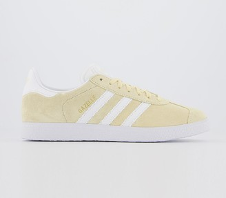 adidas Gazelle Trainers Easy Yellow White Gold Metallic F