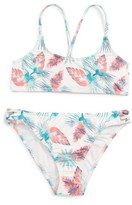 Roxy Girl's Salty Shade Two-Piece Swimsuit