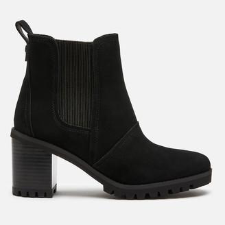 UGG Women's Hazel Waterproof Leather Heeled Chelsea Boots - Black