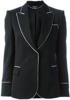 Alexander McQueen piped trim blazer