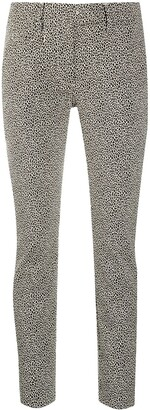 Dondup Slim-Fit Leopard Print Trousers