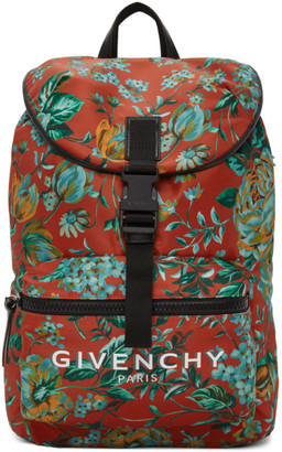 Givenchy Red Logo Packaway Backpack