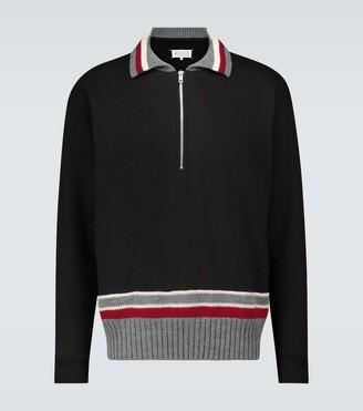Maison Margiela Half-zipped cotton sweater