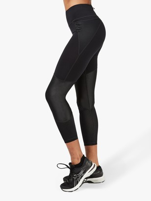 Sweaty Betty Power Mesh 7/8 Workout Leggings, Black