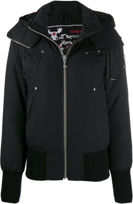 Moose Knuckles Hooded Down Bomber