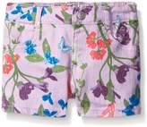 Crazy 8 Girls' Floral Woven Rolled Hem Short