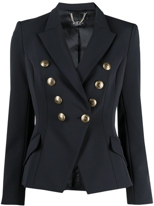 Elisabetta Franchi Double-Breasted Fitted Blazer