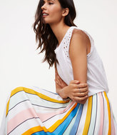 LOFT Sundeck Pleated Maxi Skirt