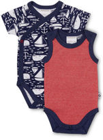 Marquise NEW Anchors Away 2pk Bodysuits Red