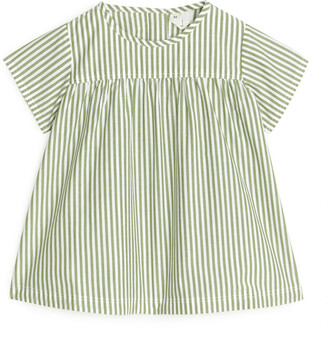 Arket Striped Poplin Dress