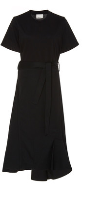 3.1 Phillip Lim T-Shirt Wool Combo Short Sleeve Dress