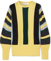 Victoria, Victoria Beckham Striped Wool Sweater - Yellow