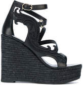 Versace strappy wedge sandals