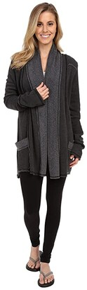 Hard Tail Slouchy Cardigan (Charcoal Heather) Women's Sweater